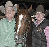 Bill Riddle and his daughter Kelly with Miss Stylish Pepto.