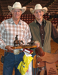 $50K Amateur champion Roger Booth, with his son, David.