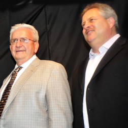 Dr. Leanard Blach (left) and Paul Jones
