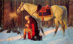 """""""The Prayer at Valley Forge,"""" by Arnold Friberg"""