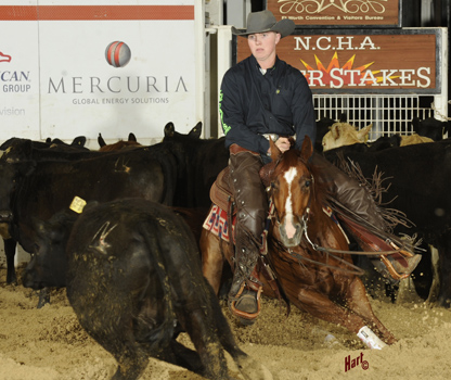 Bear Davis and Red Solo Catt won the Unlimited Amateur at the NCHA Super Stakes. Hart Photography.