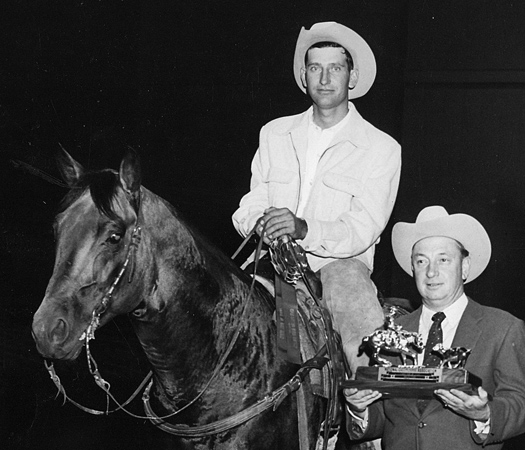 Jack Newton on 1959 World Champion Poco Stampede.