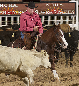 Ken Sitton won the NCHA Super Stakes Classic Limited Non-Pro on Little Swiss Desire.