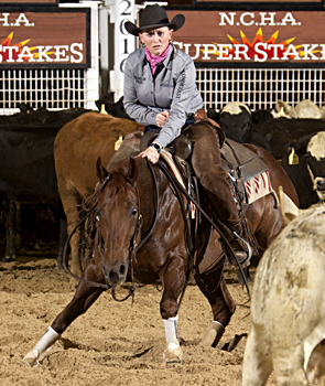 Morgan Cromer won the Open Super Stakes Classic on Maid Of Metal.