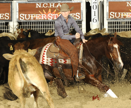 Elizabeth Quirk and Mosses Man led the first day of Non-Pro Super Stakes competition. Hart Photography.