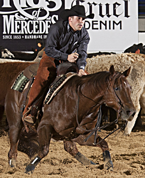 Top qualifier Cullen Chartier and Little Pepto Cat marked 228 in the Open Mercuria go-round.